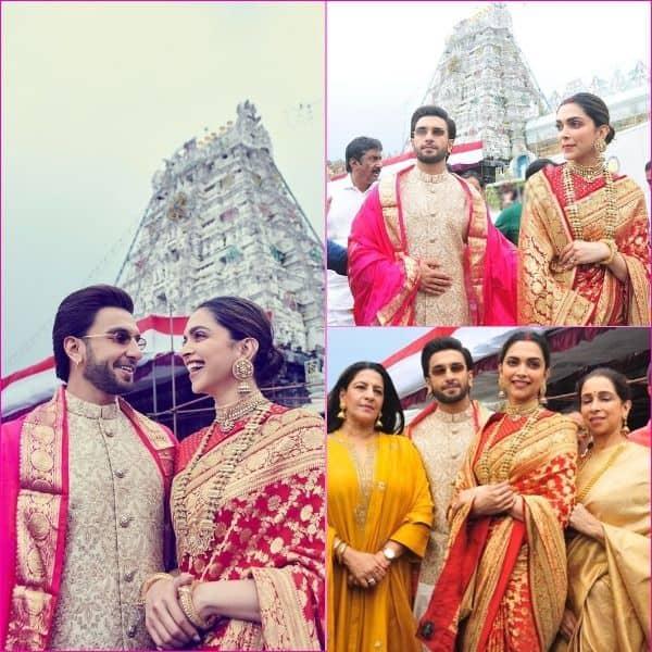 शादी की पहली सालगिरह पर मंदिर पहुंचे रणवीर और दीपिका
