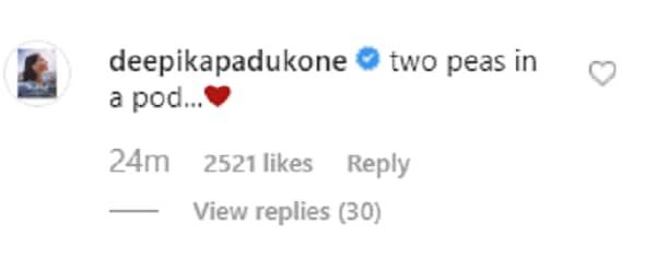 Deepika's comment on Ranveer's picture