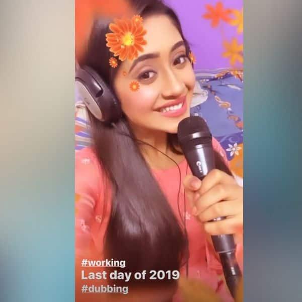 साल के आखिरी दिन काम करती दिखीं Shivangi Joshi