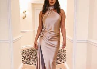 Priyanka Chopra shows us her Pre-Grammy party look and we are in love with the satin gown