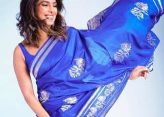 Priyanka Chopra looks 'stunning' in cobalt blue saree, says husband Nick Jonas and we agree