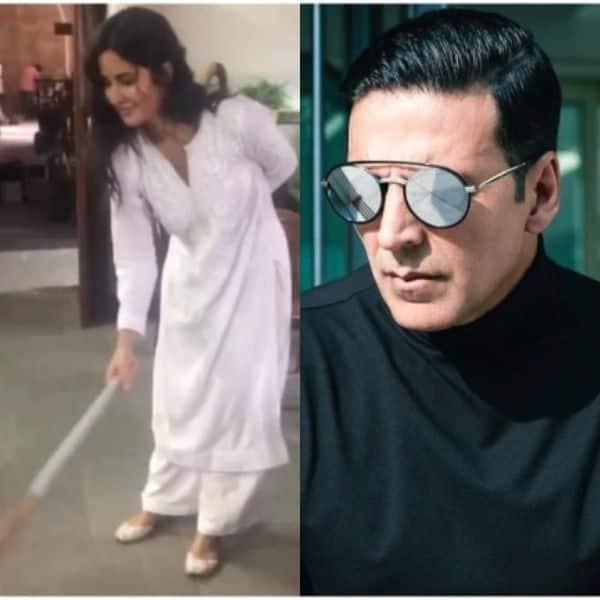 Sooryavanshi: Katrina Kaif hits Akshay Kumar with a broom on the film's set — watch video