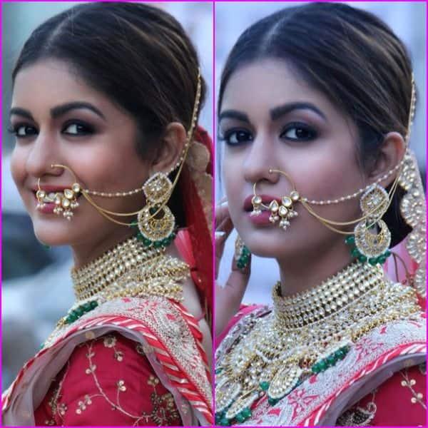 शादी का जोड़ा पहनकर शरमाई Ishita Dutta