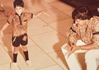 Chiranjeevi wishes Allu Arjun with this adorable throwback picture; kids Ayaan and Arha make a handmade card