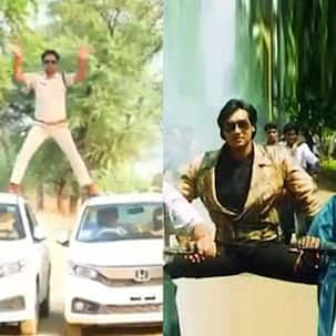 Copying Ajay Devgn's Phool Aur Kaante stunt proves costly for Madhya Pradesh cop as he gets fined — watch video