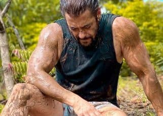 Salman Khan turns farmer at Panvel farmhouse, takes a moment to rest on ground, all soaked in mud - view pic