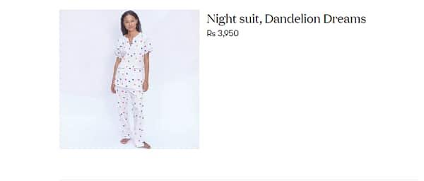 <a href='https://www.bollywoodlife.com/celeb/anushka-sharma/'>Anushka Sharma</a> Dandelion Pyjama set cost
