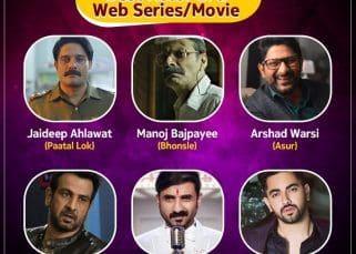 #BLBestOf6: Paatal Lok's Jaideep Ahlawat, Bhonsle's Manoj Bajpayee, Asur's Arshad Warsi — vote for the Best Actor in a Web Series/Web Movie in the first half of 2020
