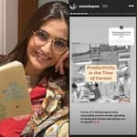 Sonam Kapoor shares her list of productive activities in lockdown, proving that she's just like all of us