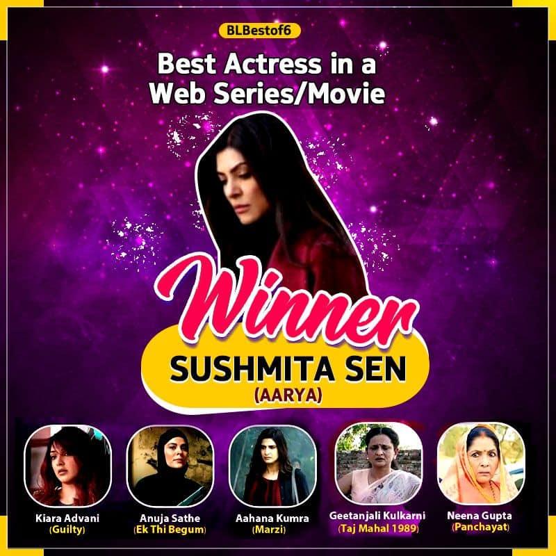 Sushmita Sen BEATS Neena Gupta and Kiara Advani by a whopping margin to emerge because the Best Web Series Actress for Aarya