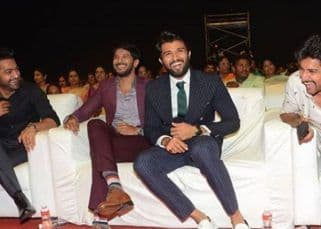 When Vijay Deverakonda shared a precious moment with his favourite men, Dulquer Salmaan, Jr NTR and Nani