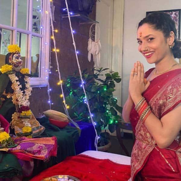 अंकिता लोखंडे ने रखी महालक्ष्मी पूजा