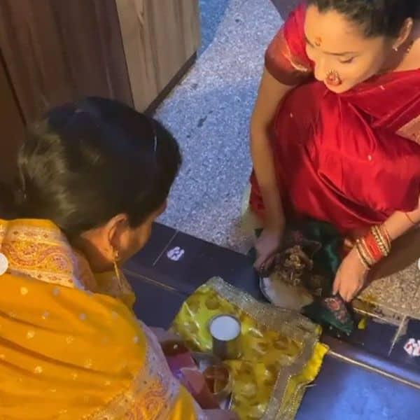 अंकिता लोखंडे ने तहेदिल से निभाई हर रस्म