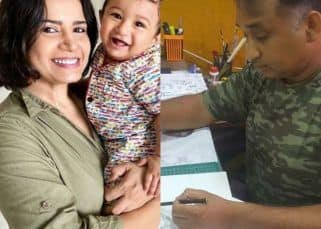 Taarak Mehta Ka Ooltah Chashmah's Mayur Vakani paints a beautiful portrait of Priya Rajda aka Rita Reporter and her baby