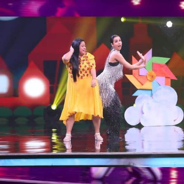 मलाइका अरोड़ा ने की भारती के साथ शरारत