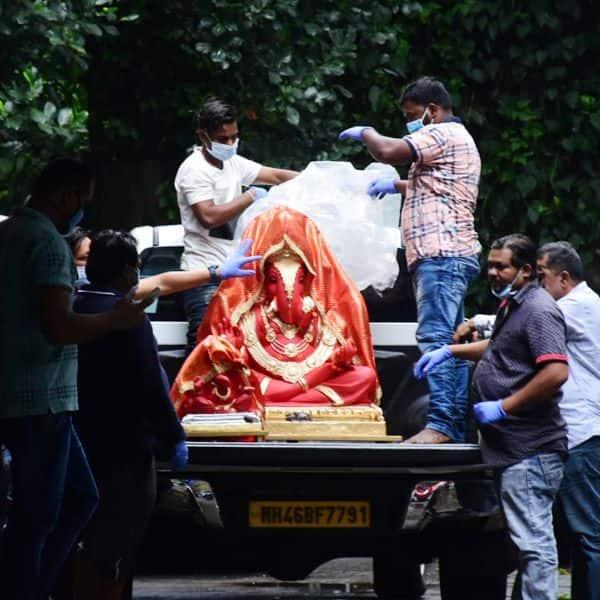 भव्य है अर्पिता खान के बप्पा की प्रतिमा