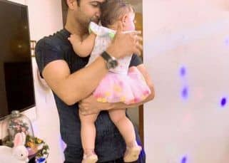 Aamir Ali showers love on his 'Jaan' Ayra as he celebrates his first Daughter's Day