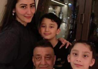 Sanjay Dutt is all smiles as he reunites with his family in Dubai — view pic