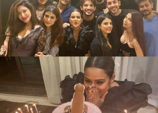 Nia Sharma cuts a phallus-shaped cake on her birthday; celebrates with Arjun Bijlani, Reyhna Pandit and others — watch videos