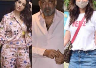 Spotted: Sanjay Dutt arrives after cancer treatment, Karishma Tanna shops for groceries, Nora Fatehi glams it up