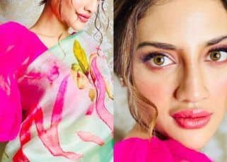 Nusrat Jahan's customised saree for Durga Puja has a special connection — view pics