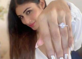 Mouni Roy flaunts a solitaire ring sparking off engagement rumours — view post