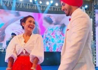 Neha Kakkar and Rohanpreet Singh look adorable in ring ceremony pics