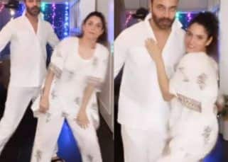Ankita Lokhande and beau Vicky Jain twin in whites and groove to Hrithik Roshan-Katrina Kaif's Bang Bang — watch video