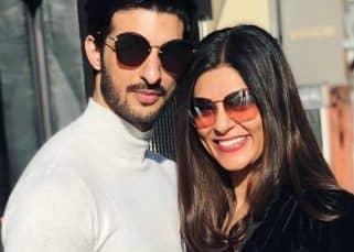 'The ink isn't permanent, love is,' Rohman Shawl tattooes Sushmita Sen's initial on his arm — view pic