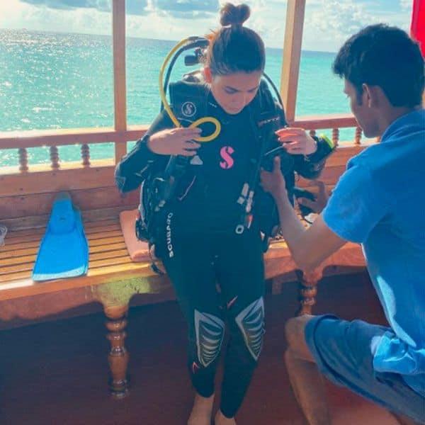 समांथा अक्किनेनी ने पहली बार की स्कूबा डाइविंग