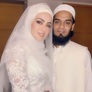 Sana Khan shares a touching post for husband Anas Saiyad; says, 'Thank you for always pushing me towards good'