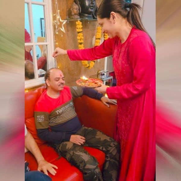 कजिन के साथ अंकिता लोखंडे ने मनाया भाईदूज