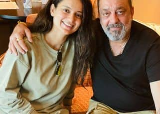 Kangana Ranaut meets Sanjay Dutt in Hyderabad; calls him 'even more handsome and healthy'