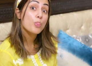 Hina Khan's bedtime reading and photoshoot looks fun – view pics