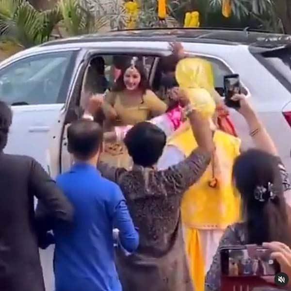 ससुराल वालों ने किया गौहर खान का जोरदार स्वागत