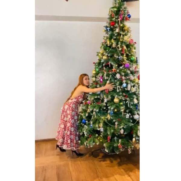 टीना दत्ता ने सजाया क्रिसमस ट्री