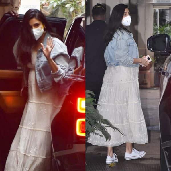 व्हाइट मैक्सी ड्रेस पहनकर बाहर निकलीं Anushka Sharma