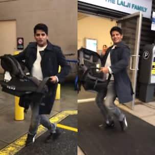 Karanvir Bohra dances to Shah Rukh Khan-Deepika Padukone's Love Mera Hit Hit as he enters the hospital for Teejay Sidhu's delivery — watch video