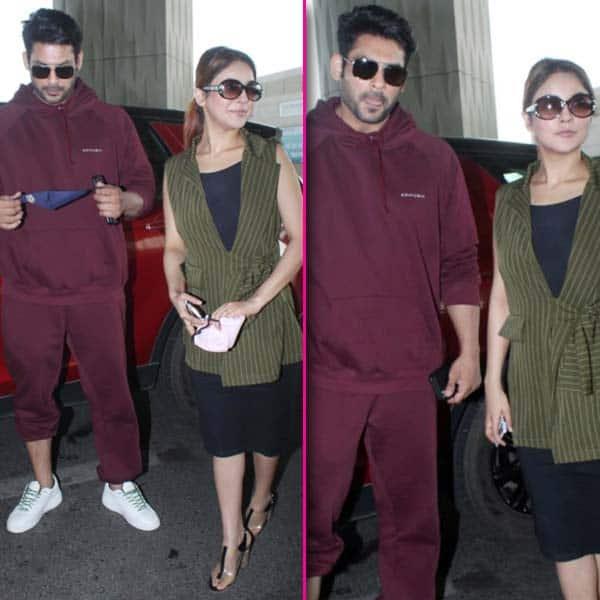 एयरपोर्ट पहुंचे सिद्धार्थ शुक्ला और शहनाज गिल