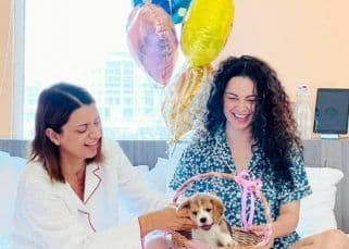 Kangana Ranaut gifts an adorable puppy to Rangoli Chandel on her birthday — view pics