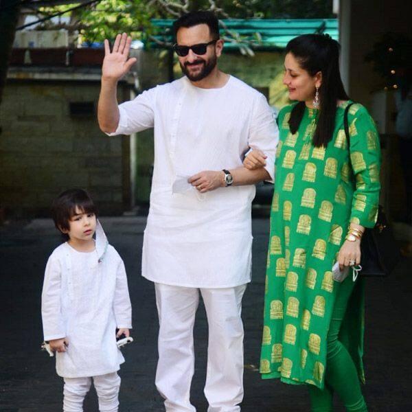 करीना (Kareena Kapoor) और पापा सैफ (Saif Ali Khan) संग पोज देते दिखे तैमूर (Taimur Ali Khan)