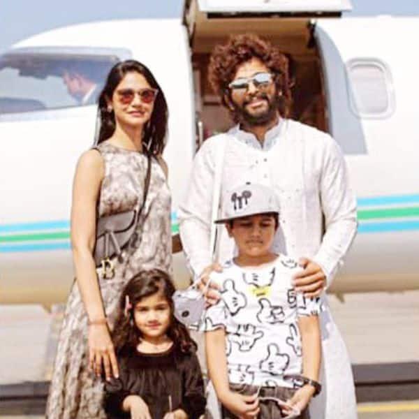 Allu Arjun and family fly to Udaipur for Niharika Konidela