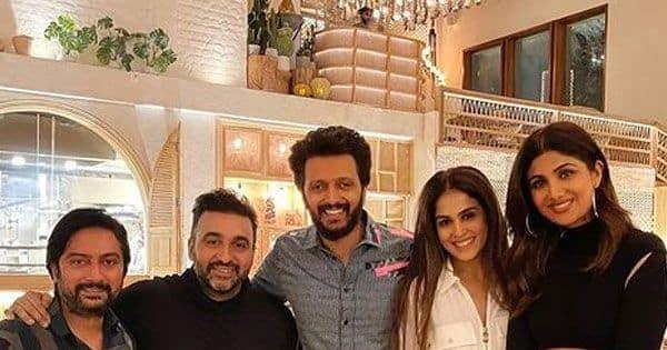 Shilpa Shetty and Raj Kundra enjoy dinner with Riteish Deshmukh and Genelia D'Souza at the Baazigar actress' - Bollywood Life