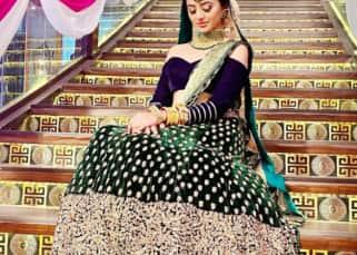 Helly Shah aka Riddhima's midnight blue lehenga look from Ishq Main Marjawan 2 is modern bride goals — view pics