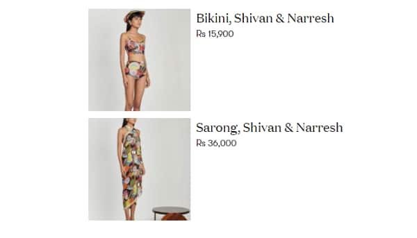Sara Ali Khan dress cost