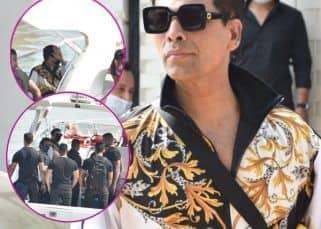Varun Dhawan की बारात में शामिल होने पहुंचे Karan Johar, मीडिया को देखकर हाथ से छिपाया मुंह