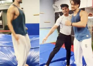 Siddharth Nigam of Aladdin fame aces the gymnastic back flip with Tiger Shroff and we can watch the video on loop