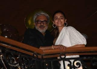 Sanjay Leela Bhansali birthday bash: Alia Bhatt strikes a Gangubai Kathiawadi pose with the filmmaker — view pics