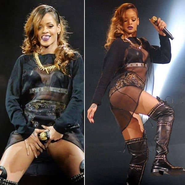 Rihanna के कॉन्सर्ट की तस्वीरें हुईं वायरल