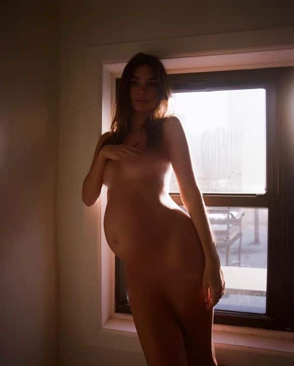 Standing in silhouette